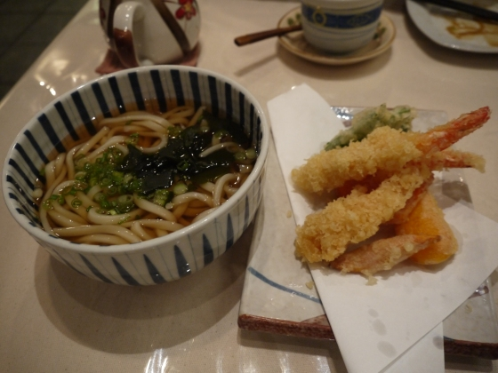 Kake Udon with Tempera $